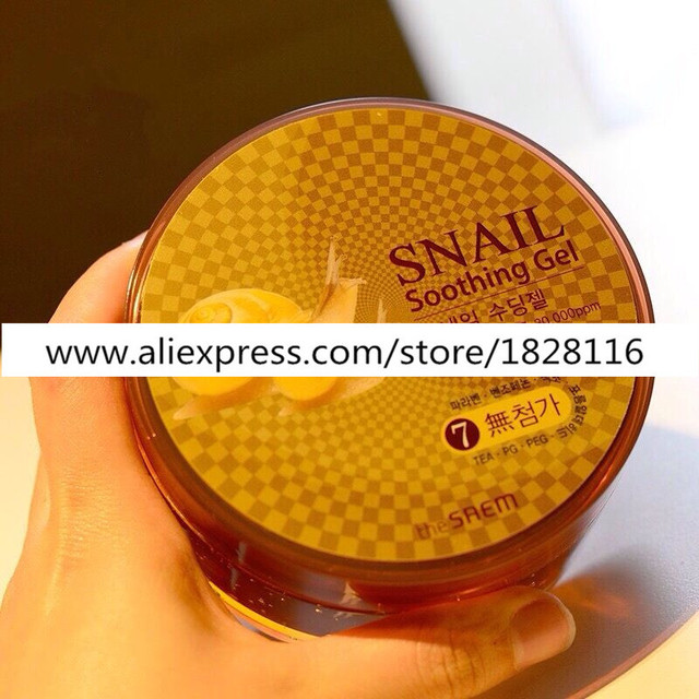 The Snail Aloe Vera Gel Cream Whitening Acne Remove Pimples All In One Repair 300 ml