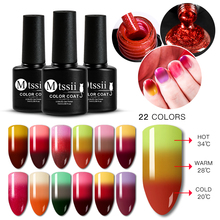 Mtssii Rainbow Thermal Color Changing Gel Nail Polish Holo Glitter Temperature Soak Off Varnish 7ml Lacquer