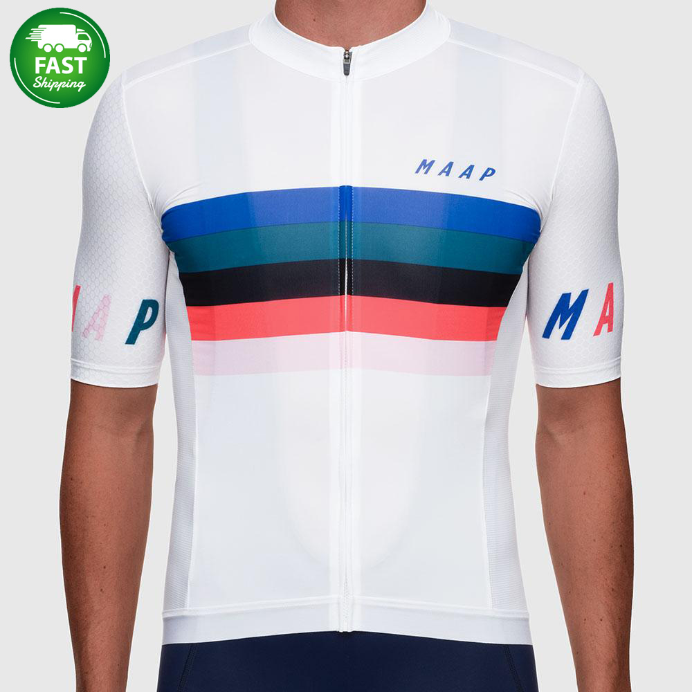 Pimmer In stock shipping in 48 hours 2019 new pro team aero short sleeve cycling Jerseys Simple stripes Australia jersey shirt