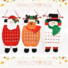 New Hot Christmas Old Man Snow Man Reindeer Calendar Advent Countdown Calendar Natale Ingrosso Christmas Decorations for Home(China)