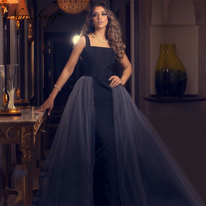 Closeout DealsδGowns Evening-Gown Lebanon Prom-Dresses Middle-East Black Kaftan Turkish-Dubai Arabic