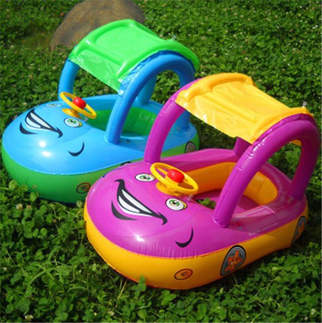 Nuevo Asiento Kinder Schwimmbad Juguete Máquina Barco Sombra Piscina Para niños Piscina Inflable Gonflable Piscine Portátil Azul Rosa