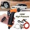 6Pcs Car 100W 12V Portable High Pressure Washer Pump 6L Min Car Moto