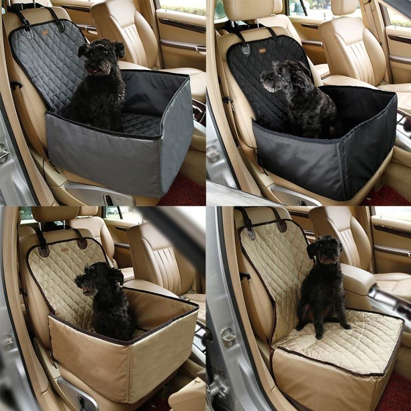 Waterproof Puppy Basket Anti-Silp Pet Car Carrier Dog Cat Car Booster Outdoor Travel Car Seat