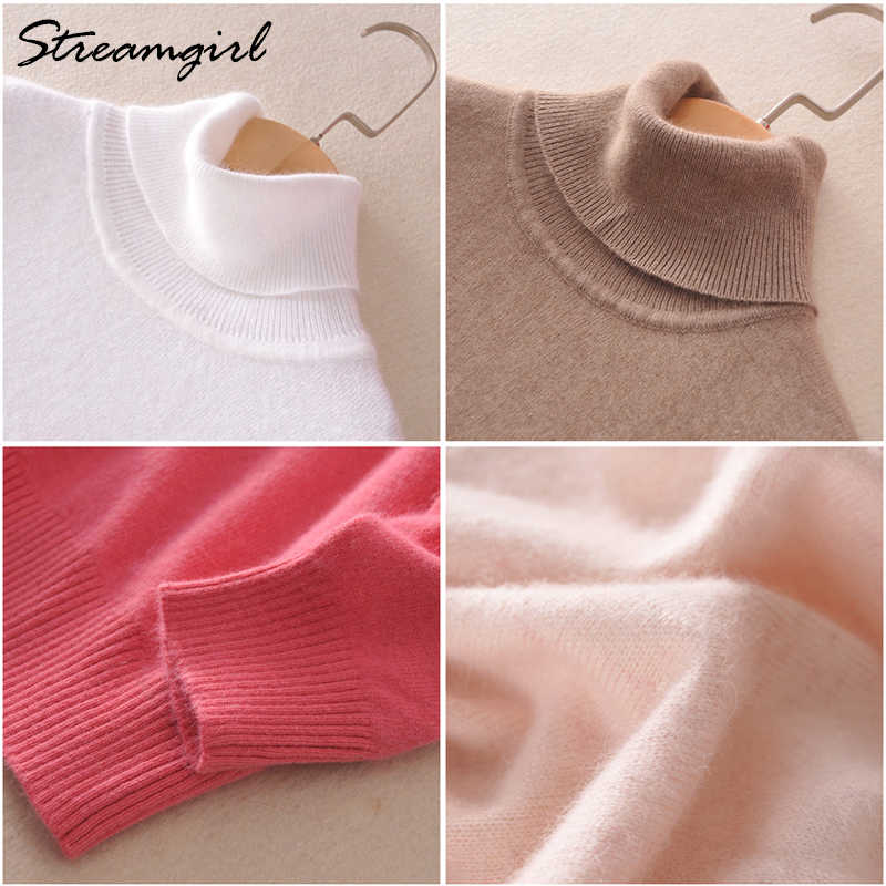Kaschmir Pullover Frauen Rollkragen frauen Plus Größe Gestrickte Rollkragen Winter Kaschmir Pullover Für Frauen Warme Pullover Weibliche
