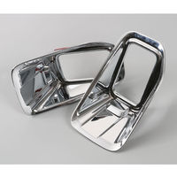 2 Pcs Pair ABS New Chrome Front Fog Light Lamp Cover Trim Bezel Decoration For F