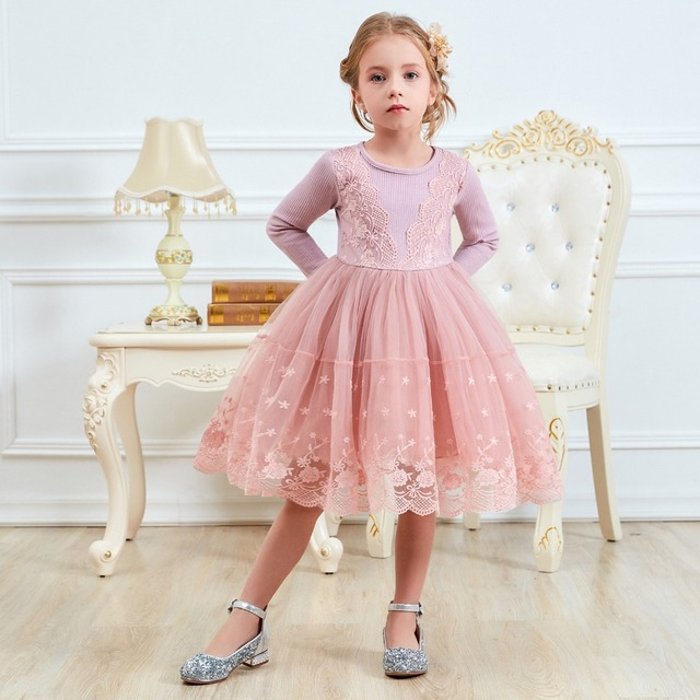 Winter Autumn Long Sleeve Children Girl Dresses Casual School Dress for Girls Fancy Dress Kids Girl Party Wear Clothing 3 8T 1