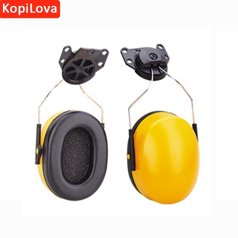 KopiLova 1pcs Ear Muffs Anti Noise Ear Protector Hearing Protection Sound Proof Earmuff Only Use On Helmet Free Shipping