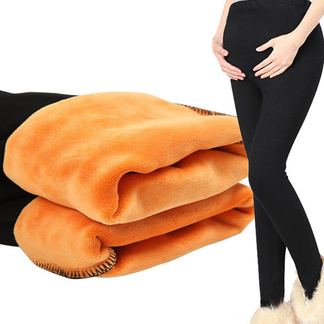 b948817878703 Leggings For Pregnant Women High Waist Trousers Winter Velvet Pants  Maternity Clothes Thick Warm Pregnancy Leggings Maternity