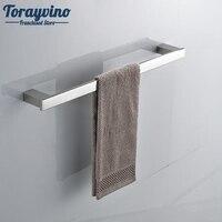 Torayvino Chrome Finish Swivel Stainless Steel Wall Hanging Bathroom Towel Rail Holder Rack Shelf Single Bar
