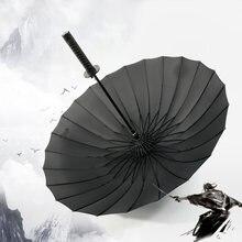 Dropshipping samurai espada guarda-chuva japonês ninja-como sol chuva guarda-sóis retos alça longa grande à prova de vento
