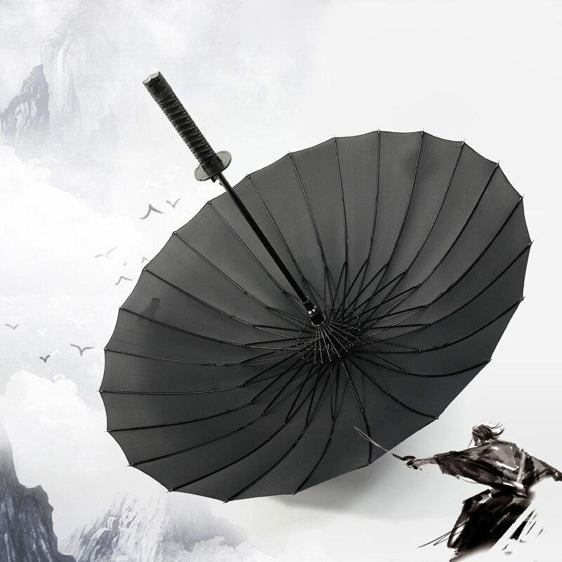 Livraison directe samouraï épée parapluie japonais Ninja-comme soleil pluie parapluie droit Long poignée grand coupe-vent