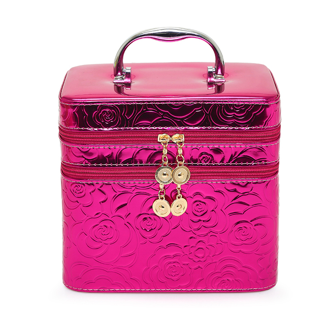 Rose Beauty Cosmetic Case Birthday Gift Makeup Organizer Storage Travel Trunk Cases Lipstick Storage Organizer Bag Makeup Case