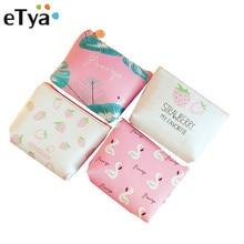 ETya небольшой кожаный кошелек для монет кошелек для Для женщин Дети Милые Птица Клубника мини-молния ключ деньги изменить держатель сумки дети подарок
