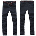 Fashion Classic Solid Mens Jeans Pants Mid Full Length Denim Pants Slim Straight High Quality Pants For Men UK212