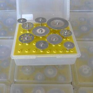Image 3 - Heißer! 10Pcs Diamant Trennscheiben Cut off Halten Rad Set Für Dremel Dreh Werkzeug Schneiden/Schleifen/Gravur werkzeuge