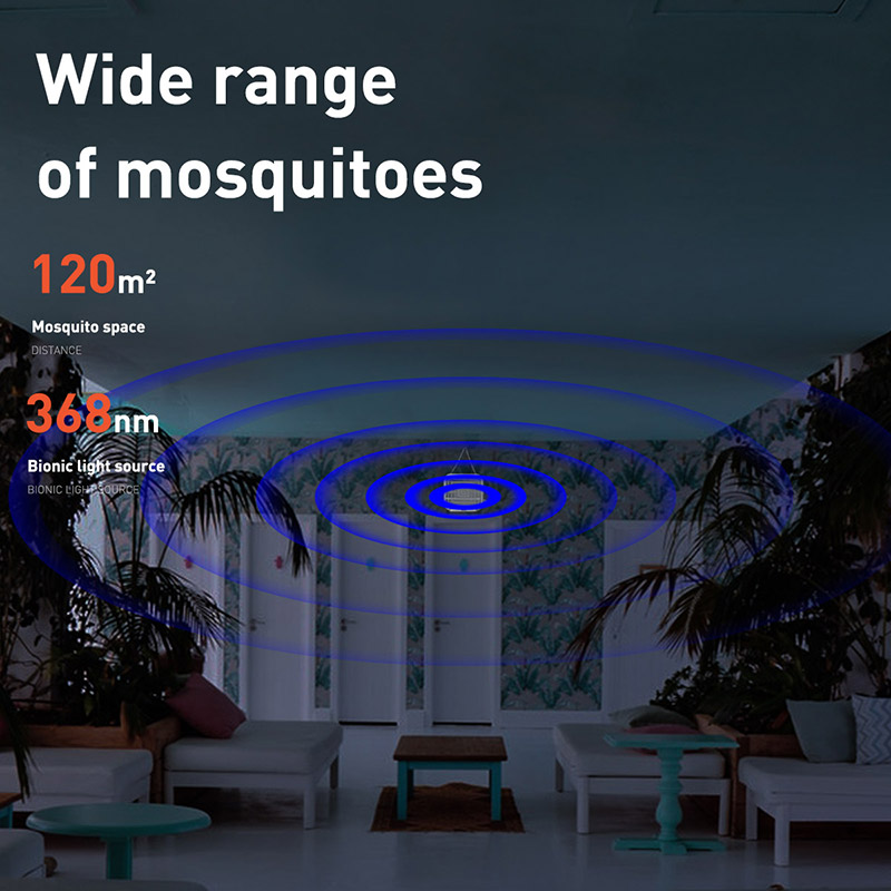 Image 4 - BASEUS UV USB Light Mosquito Killer Electric Mosquito Killer Lamp  Photocatalysis Mute Home LED Zapper Insect Trap RadiationlessUSB  Gadgets