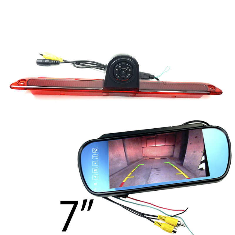 HD Brake Light Rear Camera For Mercedes Benz W906 Sprinter Vito Volkswagen Crafter 2007-2015 Dodge Reverse Camera And Monitor