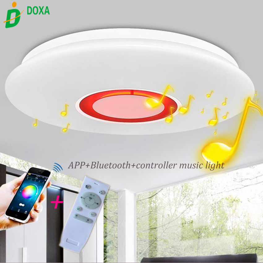 42 Modern Bluetooth Ceiling Fan Light Remote Music: Dimmable Wireless Remote Control APP Music Bluetooth LED