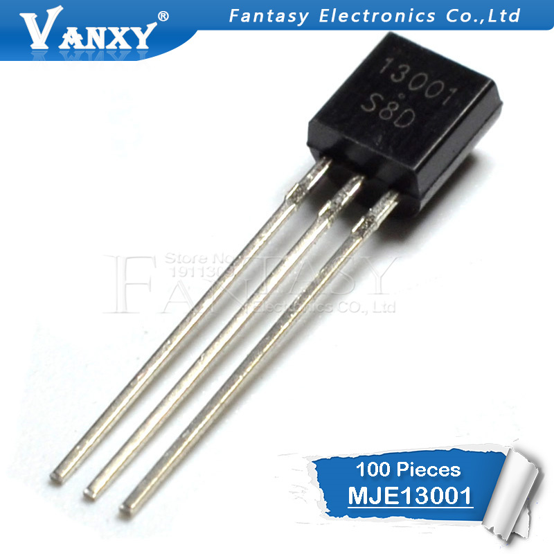 100PCS MJE13001 TO-92 13001 TO92 E13001 New Triode Transistor