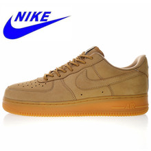 newest ab426 41f21 Nieuwe Hoge Kwaliteit Nike Air Force 1 Low 07 Vlas Mannen en Vrouwen  Skateboarden Schoenen Outdoor Sneakers Schokabsorptie AA406.