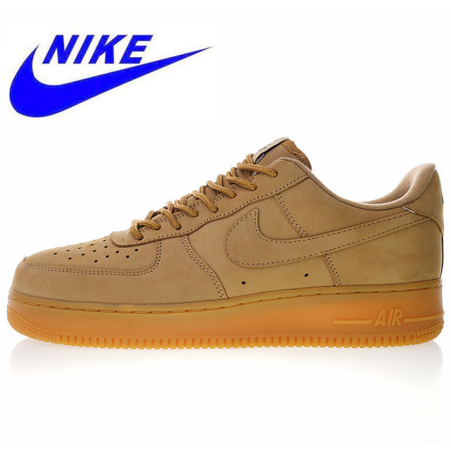 39b1dee3d8292 New High Quality Nike Air Force 1 Low 07 Flax Men and Women Skateboarding  Shoes Outdoor Sneakers Shock Absorption AA4061 200