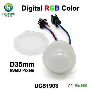good price led module light 35mm 6leds pixel ucs1903 digital bulb lamp full color addressable 5050 outdoor smd led module lights