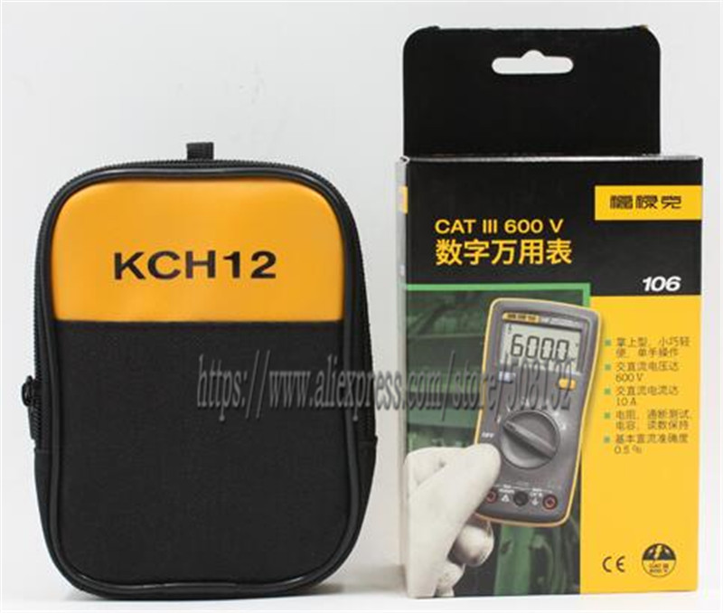 Fluke 106 KCH12 SOFT CASE Palm sized Digital Multimeter Professional in the palm of your hand