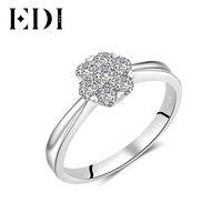 EDI Classic Natural Real 14K White Ring Statement Wedding Wedding Engagement Eternity Rings For Women Fine