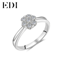 EDI Classic Natural Real 14K White Ring Statement Wedding Wedding Engagement Eternity Rings For Women Fine