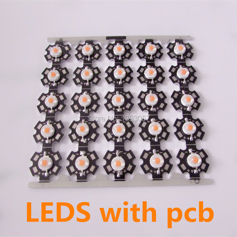 Compare Prices on Broad Spectrum Light Bulbs- Online Shopping/Buy ...:25pcs 1W/3w full spectrum led grow chip with star heat sink , led grow,Lighting