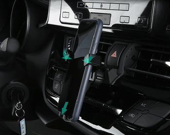 Samochód odpowietrznik uchwyt na telefon do telefonu komórkowego stabilny Cradle stojak na smartfona dla Toyota C-HR CHR 2016 2017 2018 2019 tanie i dobre opinie HIGH FLYING CN (pochodzenie) 2016-2019 Plastic alloy