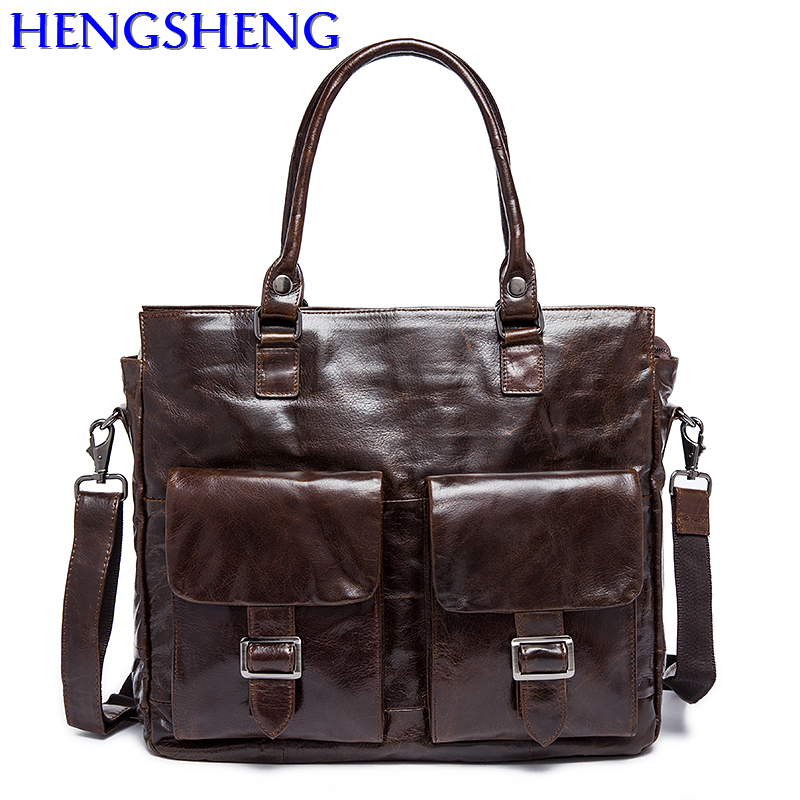 Free Shipping Fashion genuine leather men briefcase for business men briefcase of top cow leather men briefcase by genuine bags dhl free shipping brand clothing cow leather long jackets men s genuine leather black casual jacket fashion classics