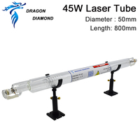 CO2 Glass Laser Tube Dragon Diamond Length 800mm 45W For CO2 Laser Engraving Cutting Machine