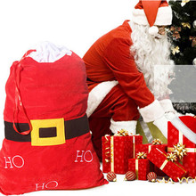 2016 new year cloth christmas gift bags big bag santa large capacity gift bag christmas decoration