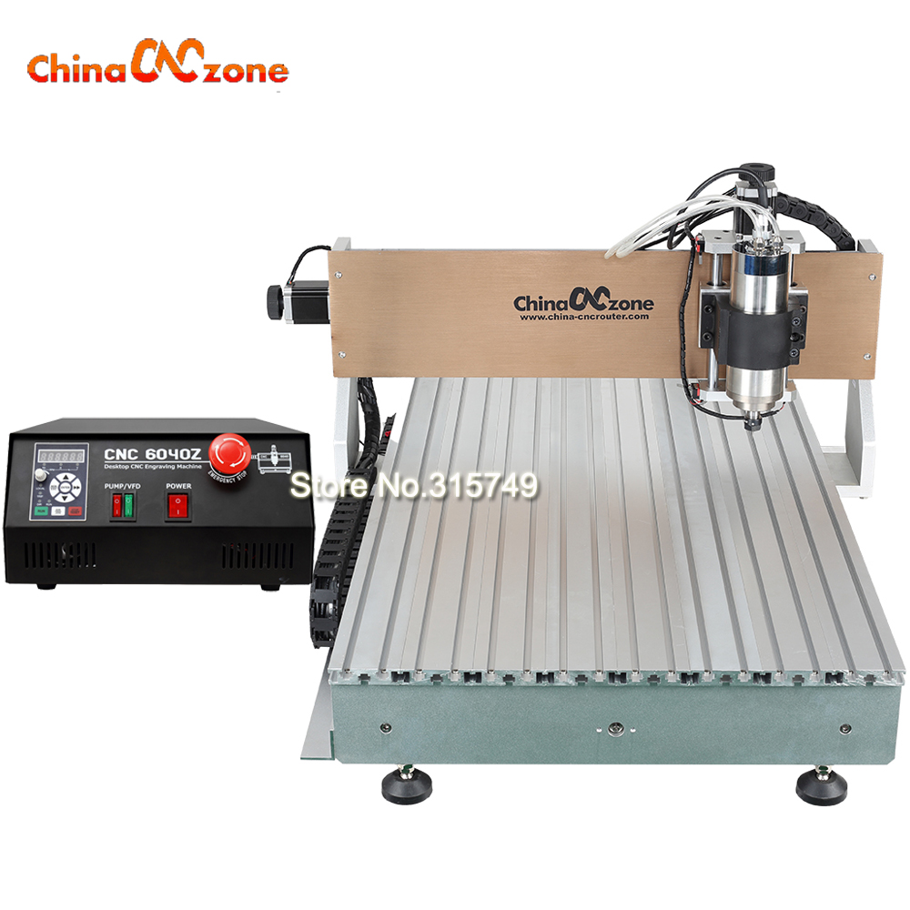Mini CNC Router Engraver CNC 6090 Gantry 3 Axis 2200W Spindle with Cooling System PCB Metal Milling Machine for Stone Cutting mini cnc engraving machine for sale 6090 mach 3 control system