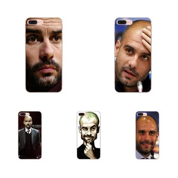 For Galaxy Grand Alpha G850 Core2 Prime S2 I9082 A3 A5 A7 On5 On7 2015 2016 2017 Soft TPU Case Mobile Soccer Coach Pep Guardiola image
