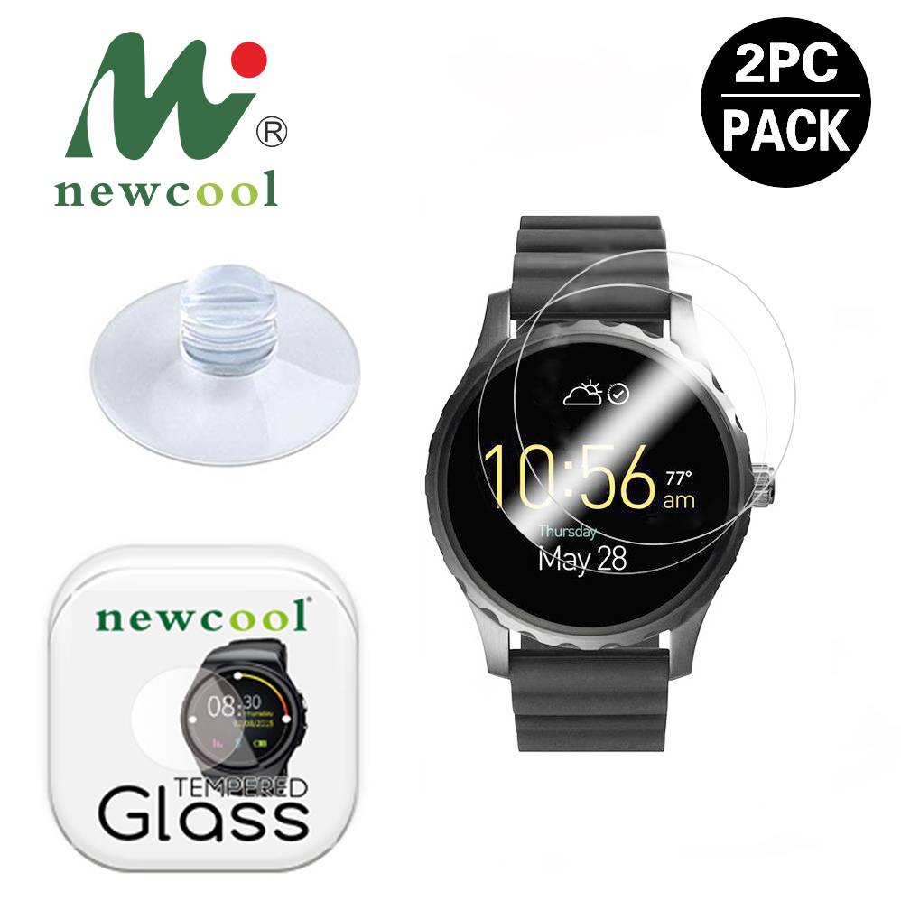 NEWCOOL 9H 2.5D 44mm 45mm 43mm Round watch 21-46 MM Diameter Tempered Glass Screen Protector Guard Film