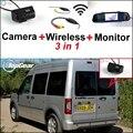 3 in1 Especial Cámara de Visión Trasera + Receptor Inalámbrico + Sistema de Copia de Seguridad Aparcamiento Monitor Del Espejo Para Ford Tourneo 2008 ~ 2014