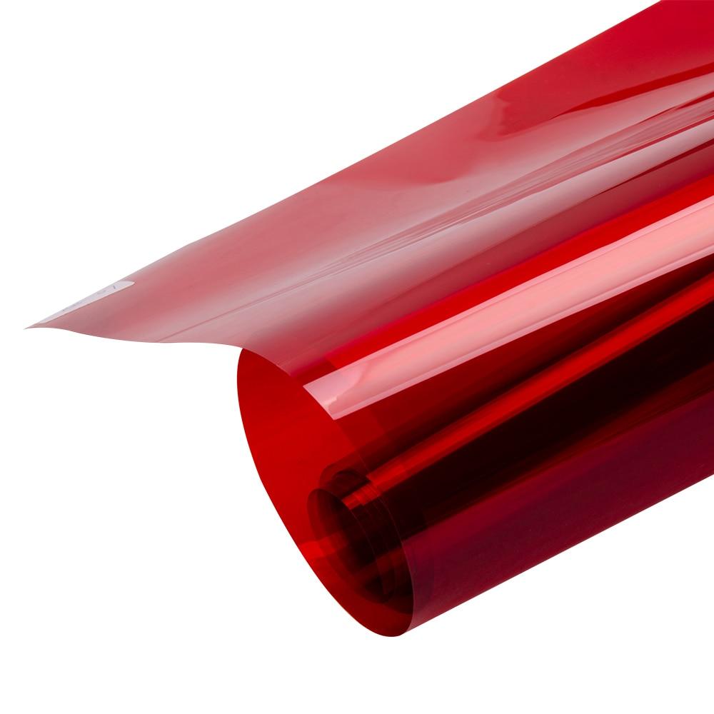 0.5x20 m Vermelho Transparente Janela Filme Matiz Vinil Decal Adesivo Auto adesivo de Vidro de controle de Calor para o Natal decoração Do Partido Do dia - 4