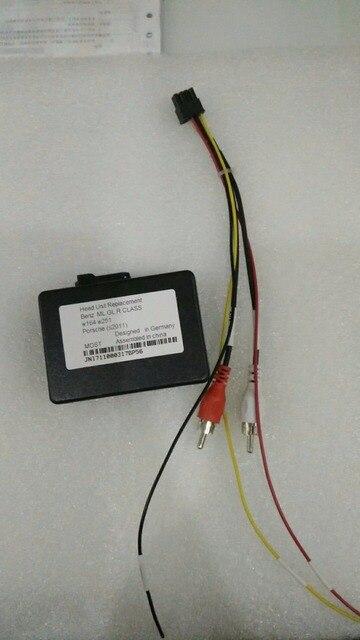 RCA Aux audio fibre converter kit fit Benz Porsche MOST fiber optics power amplifier (aftermarket android unit adapter)