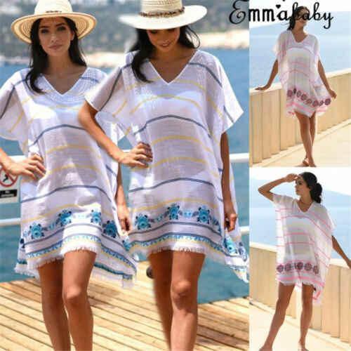 Seksowne panie kobiety solidna biała osłona do bikini up plaża sukienka stroje kąpielowe szyfonowa kostium kąpielowy strój kąpielowy letnie wakacje kardigan kimono