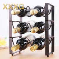 XXXG / / fashion creative superposition of European wine rack furnishing articles bottle tray display shelves, wrought iron