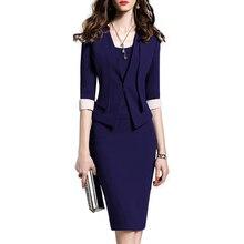 Женские костюмы для офиса, вечерние платья для женщин, Платья для особых случаев, элегантный Блейзер, платье, пиджак, комплект, женское модное пальто