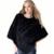 Na Venda de Moda Genuína Pele de Coelho das Mulheres de Malha Capa Xale Poncho do Revestimento do Revestimento