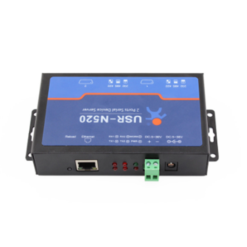 RS232/485/422 to Ethernet module Dual serial port server  industrial communication network rs422rs485 serial interface
