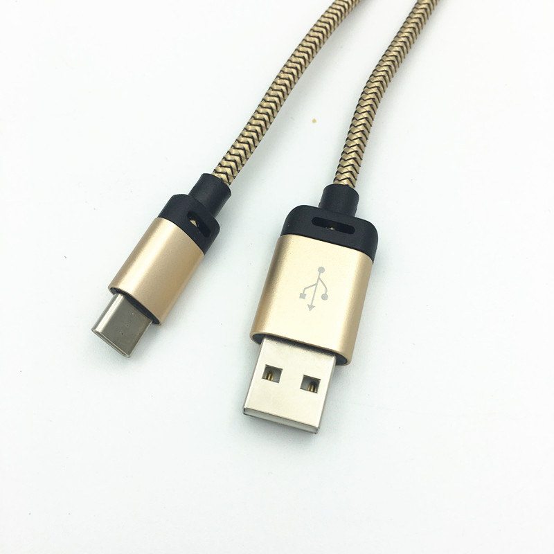 Type-C Charger Cable TypeC Charging Cable Data Sync For OnePlus 3T LeEco Xiaomi Mi5s Plus Note 2 for Huawei Mate 9