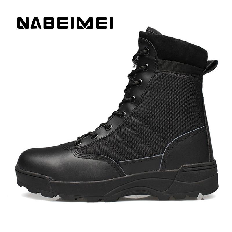 Aktiv Männer Stiefel Wüste Stiefel Schuhe Mann 2019 Tragbare Stiefeletten Taktische Outdoor Schuhe Superstar Polyester Armee Stiefel Größe 39 -45 Hindernis Entfernen