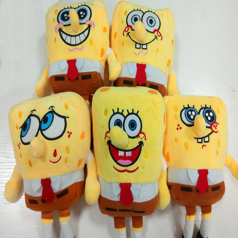 Hot Sale 22 CM 5 styles Cartoon Figure Sponge Bob Baby Toy And Patrick Plush Toy Soft Anime Doll For Kids Toys