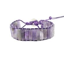 High End Leather Wrap Bracelet Unique Natural Stones Strap Bracelets Fashion Femme Wholesale